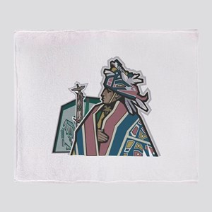 American Indian Chief Throw Blanket
