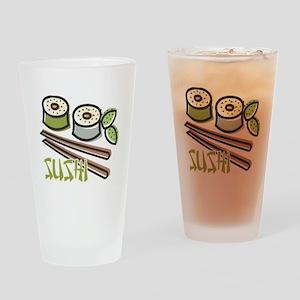 Cool Artsy Sushi Design Pint Glass