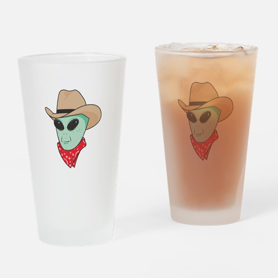 Cowboy Alien Pint Glass