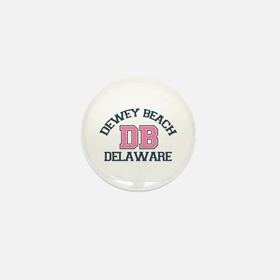 Dewey Beach DE - Varsity Design Mini Button
