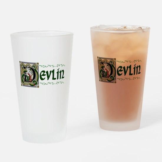 Devlin Celtic Dragon Pint Glass