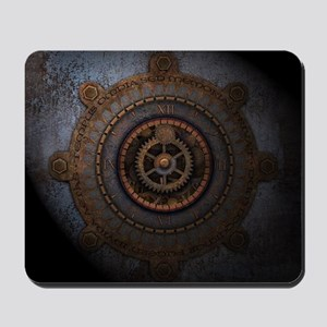 Steampunk Clock Time Metal Gears Mousepad