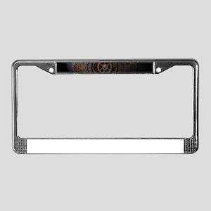 Steampunk Clock Time Metal Gea License Plate Frame