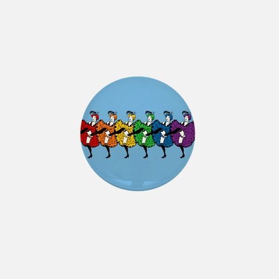 Rainbow CanCan Dancers Mini Button