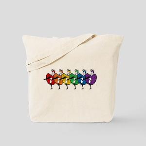 Rainbow CanCan Dancers Tote Bag