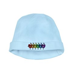 Rainbow CanCan Dancers baby hat