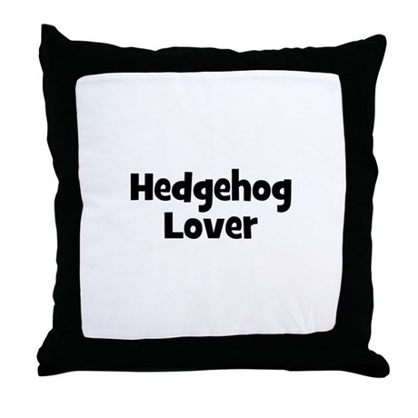 Hedgehog Lover Throw Pillow