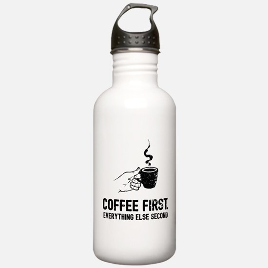 Coffee First Water Bottle