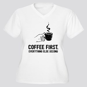 Coffee First Plus Size T-Shirt