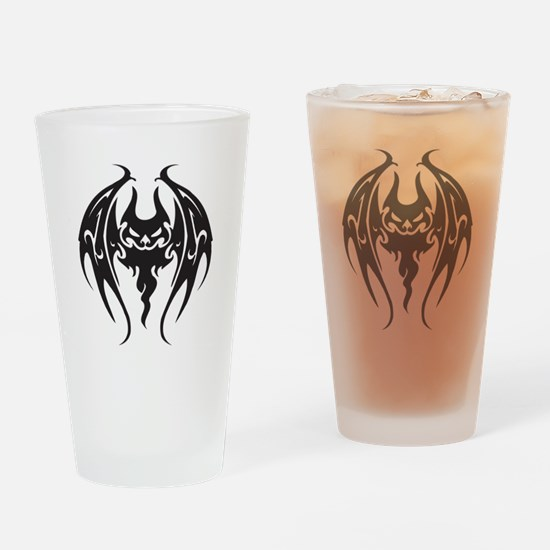 Cool Tattoo Style Bat Pint Glass
