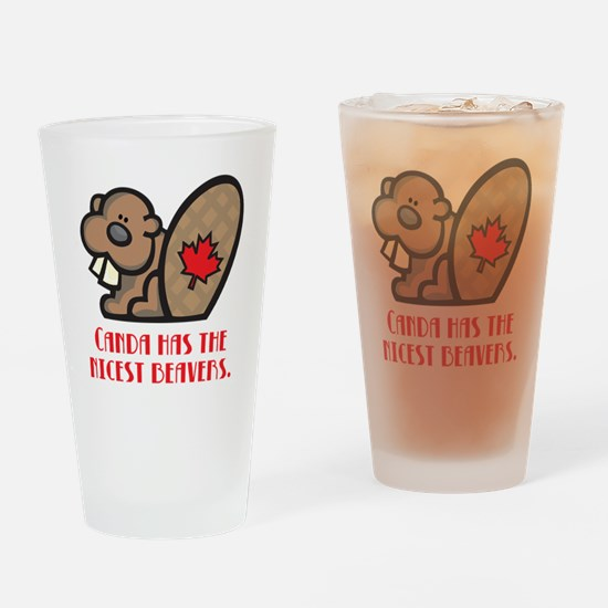 Canada Nicest Beavers Pint Glass