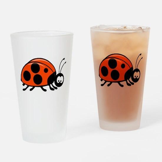 Lady Bug Pint Glass