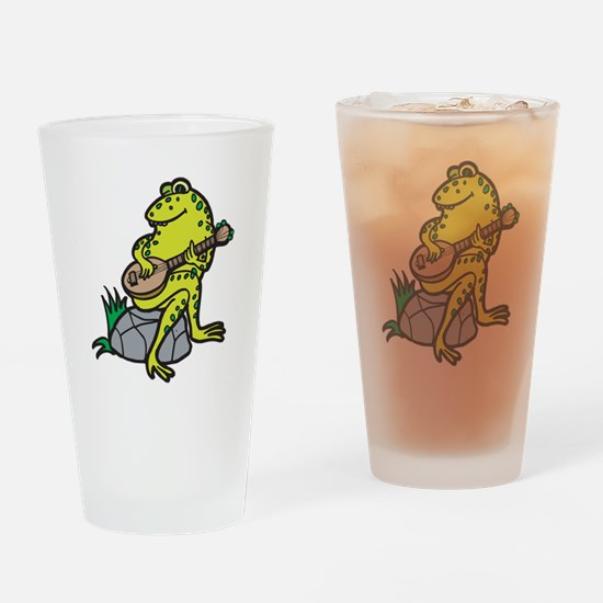 Silly Frog Play Guitar Pint Glass