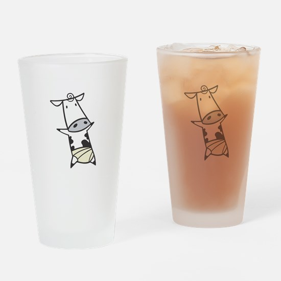 Baby Cow in Diaper Pint Glass