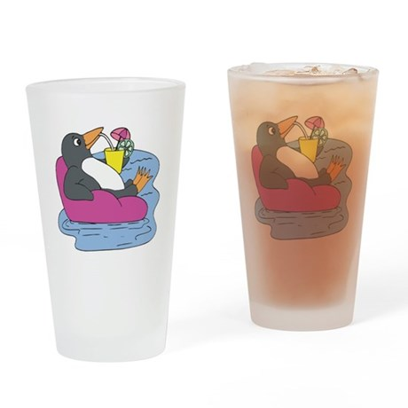 Penguin on Vacation Pint Glass