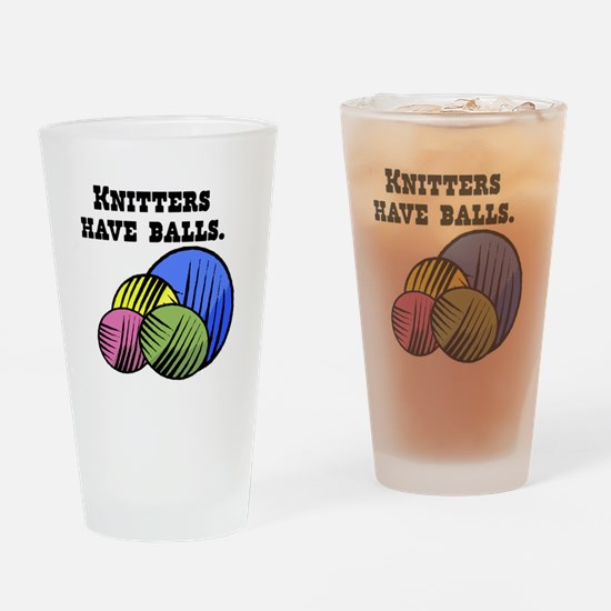 Knitters Have Balls! Pint Glass