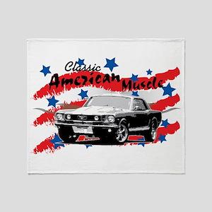 American Muscle Series '65 Mustang Throw Blanket