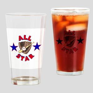 All Star Baseball Design Pint Glass