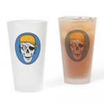 Colored Pirate Skull Pint Glass