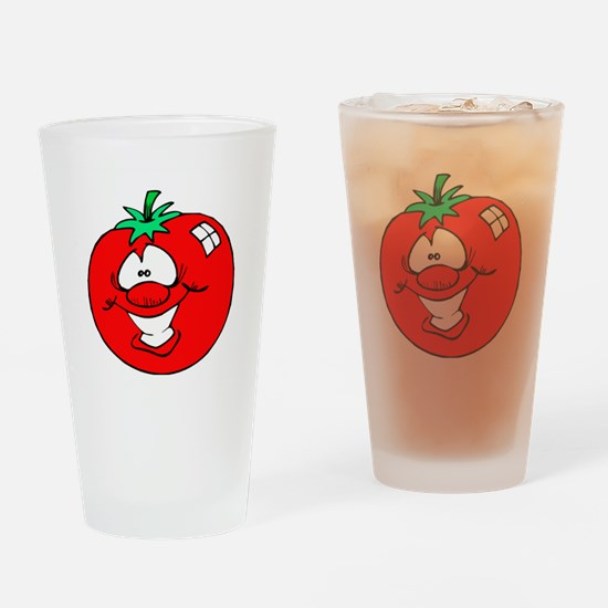 Happy Tomato Face Pint Glass