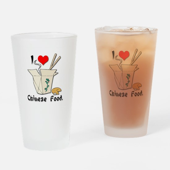I Heart (Love) Chinese Food Pint Glass