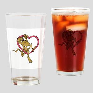 Monkey Heart Pint Glass