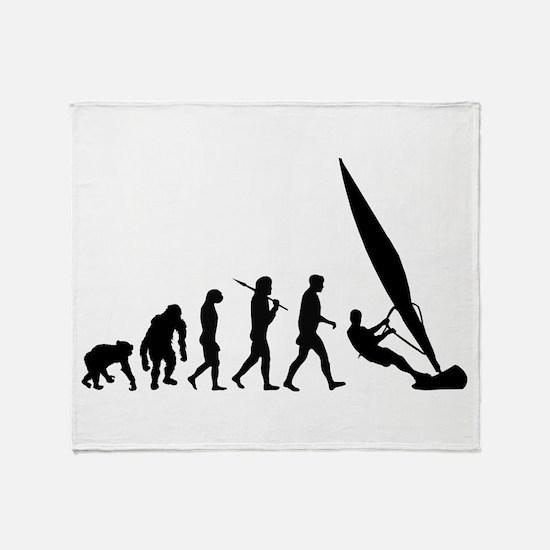 Windsurfer Evolution Throw Blanket