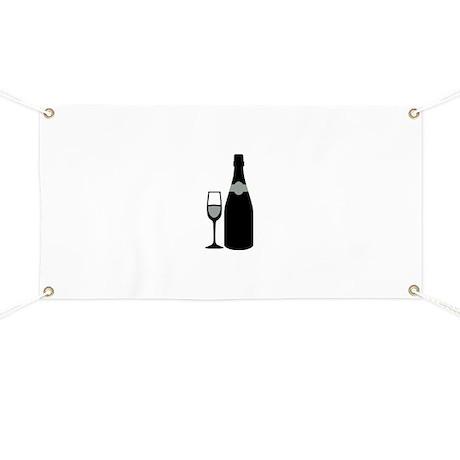Champagne bottle glass Banner