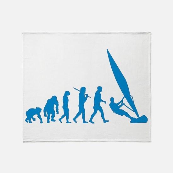 Evolution of Windsurfing Throw Blanket