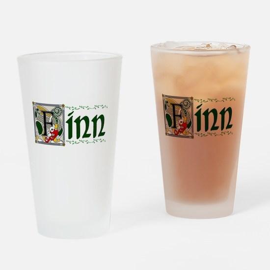 Finn Celtic Dragon Pint Glass