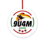 9u4m Logo Round Ornament