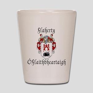 Flaherty In Irish & English Shot Glass
