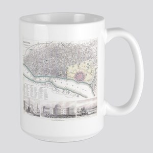 Vintage Map of Calcutta India (1842) Mugs