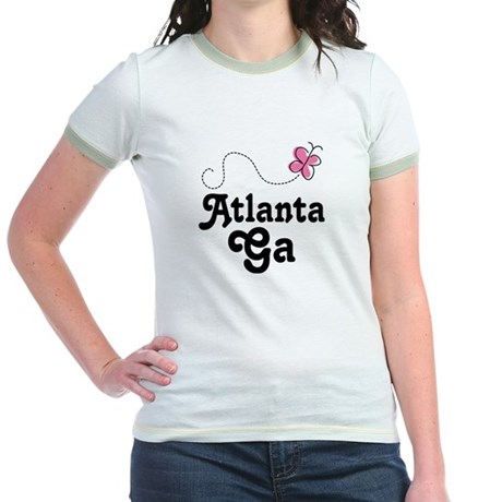 Pretty Atlanta Georgia Jr. Ringer T-Shirt