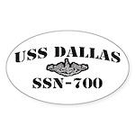 USS DALLAS Sticker (Oval)