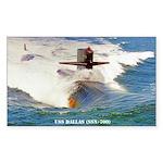 USS DALLAS Sticker (Rectangle)