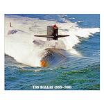 USS DALLAS Small Poster