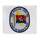 USS DALLAS Throw Blanket