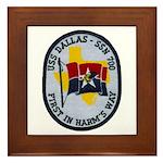 USS DALLAS Framed Tile