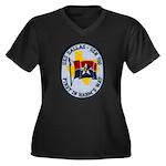 USS DALLAS Women's Plus Size V-Neck Dark T-Shirt