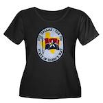 USS DALLAS Women's Plus Size Scoop Neck Dark T-Shi