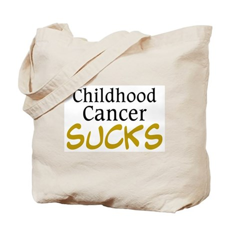 Childhood Cancer Sucks Tote Bag