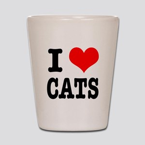 I Heart (Love) Cats Shot Glass
