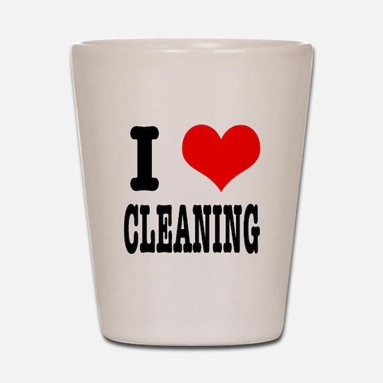 I Heart (Love) Cleaning Shot Glass