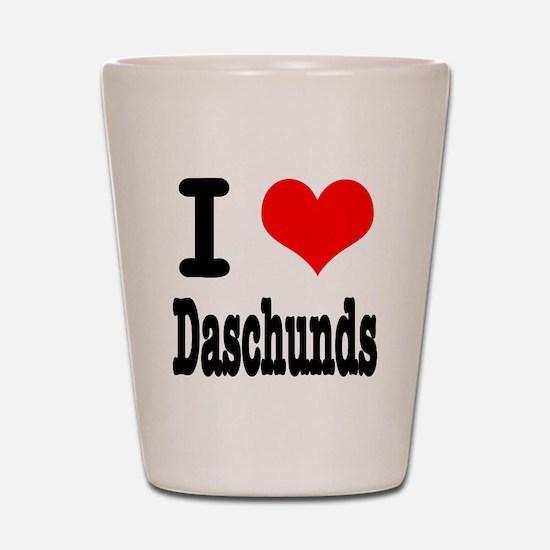 I Heart (Love) Daschunds Shot Glass