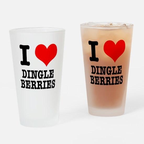I Heart (Love) Dingleberries Pint Glass