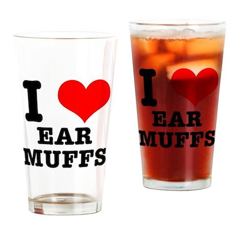 I Heart (Love) Ear Muffs Pint Glass