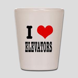 I Heart (Love) Elevators Shot Glass