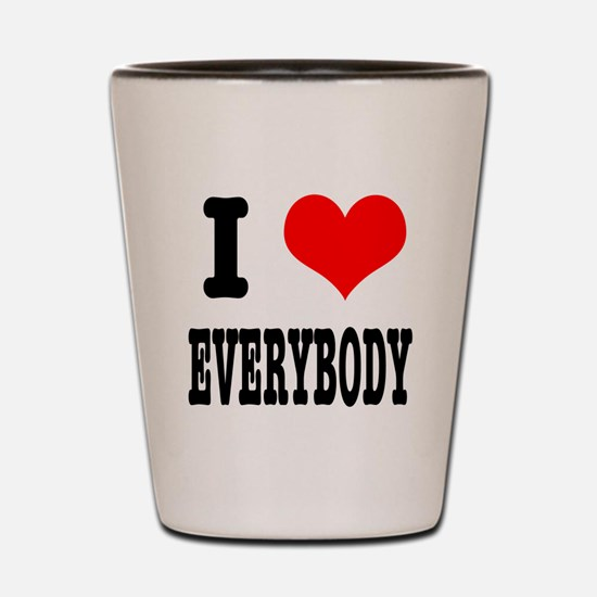 I Heart (Love) Everybody Shot Glass