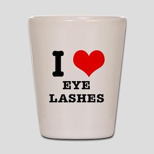 I Heart (Love) Eyelashes Shot Glass